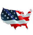 american flag map vector image vector image