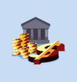 bank money success vector image
