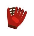 Baseball glove flat icon vector image vector image
