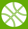 basketball ball icon green vector image vector image