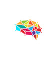 brain technology logo vector image vector image