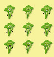 broccoli negative emotions vector image vector image
