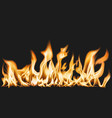 burning flame border sticker realistic fire image