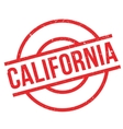 California rubber stamp vector image vector image