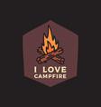 camping adventure emblem design vector image
