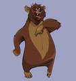 cartoon furious brown bear standing vector image vector image