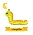 Caterpillar C letter Cute children animal alphabet vector image