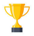 champion golden trophy cup vector image vector image