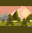 city and mountains landscape vector image vector image