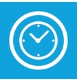 Clock sign icon vector image vector image