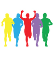 colourful runners vector image vector image