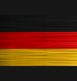 concept german flag black red golden vector image