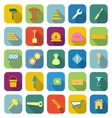 Construction color icons with long shadow vector image vector image