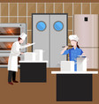 cooking people colored concept vector image vector image