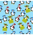 cute Christmas penguin vector image vector image