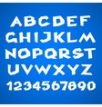 Decorative alphabet Simple bold vector image