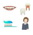 Dental set vector image vector image