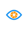 eye with aperture symbol icon on white vector image vector image