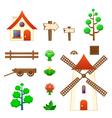 Farm assets vector image
