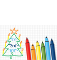 fir and pencil vector image vector image