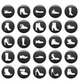 footwear shoes icon set vetor black vector image