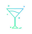 glass icon design vector image vector image