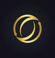 gold arrow circle abstract logo vector image vector image