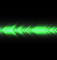 green light arrow speed direction on black vector image vector image
