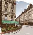 Hand drawn Paris cityscapes vector image vector image
