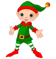 Happy Christmas Elf vector image vector image