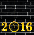 happy new year 2016 with clock vector image vector image
