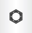 hexagon nut icon symbol element vector image