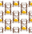Hourglasses seamless pattern on white vector image vector image