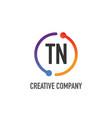initial letter tn creative circle logo design vector image vector image