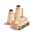isometric mining industry and power generating vector image
