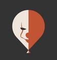 it movie icon clown face on the ballon vector image