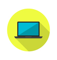 Lapton icon over green vector image