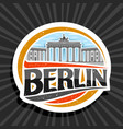 logo for berlin vector image vector image