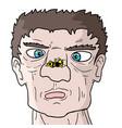 man and wasp vector image