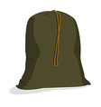 Military sack vector image vector image