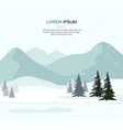 mountain winter landscape with fir forest vector image vector image