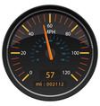 mph miles per hour speedometer odometer vector image