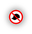 no cap sign warning signs vector image vector image