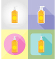 objects for recreation a beach flat icons 03 vector image