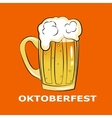 Octoberfest symbol on orange background vector image