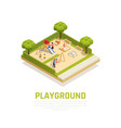 playground isometric concept vector image vector image