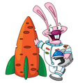 rabbit astronaut vector image