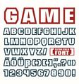 Sans serif contour font vector image vector image