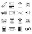 set black flat shopping icons sale vector image