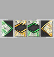 set covers for currency exchange vector image
